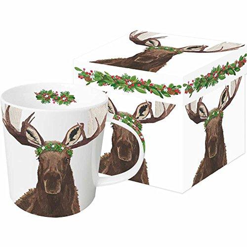 紙製品デザイン28229?GlacierムースGift Boxed Mug、13.5オンス、ブラウン