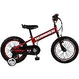 HUMMER(ハマー) 子ども用自転車 16インチ KID'S16 FAT-BIKE  極太タイヤ 手持ち付サドル/HUMMERベル/チェーンケース標準装備 補助輪付き子供自転車 サドル高48cm~59cm/適応身長105cm~115cm/12.5kg レッド 13357-0299