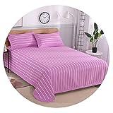 寝具コットンスリーピース古い粗布綿シートマット平織り綿マット,花色号03,幅200cm×長さ230cm + 2枕カバー