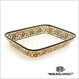 [Zaklady Ceramiczne Boleslawiec/ザクワディ ボレスワヴィエツ陶器] グラタン皿(スクエア)-du52 ポーリッシュポタリー