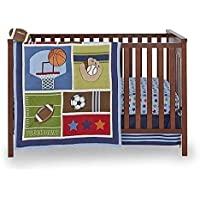 Little Bedding by NoJo 4-Piece Crib Bedding Set - High Five Sports by NoJo