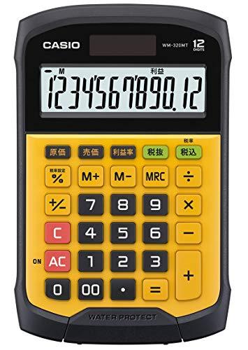 カシオ 電卓 防水・防塵 ミニジャストタイプ WM-320MT-N 12桁