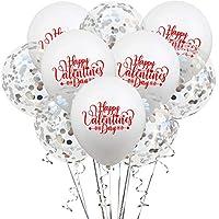 結婚式誕生日パーティーBollons | 10個入りレッドピンクホワイトハッピーバレンタインデーバルーンラブバルーンウェディングヘリウムバルーン誕生日パーティーインフレータブルバルーン、白シルバー