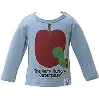 2018年 春物 はらぺこあおむし 天竺 りんごプリント 長袖Tシャツ THE WORLD OF ERIC CARLE