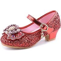 通用 HB Girls Princess Ballet Shoes Plat Glitter Low Heel Dance Party Shoes