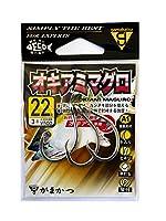 がまかつ(Gamakatsu) シングルフック A1 オキアミマグロ 22号 3本 銀 68453
