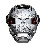 アイアンマン ヘルメット、コスプレ道具、リアルな造形で目立つこと間違いなし!、バットマン風ヘルメット (黒)