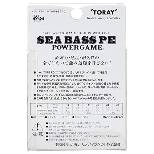 東レ『シーバスPEパワーゲーム』