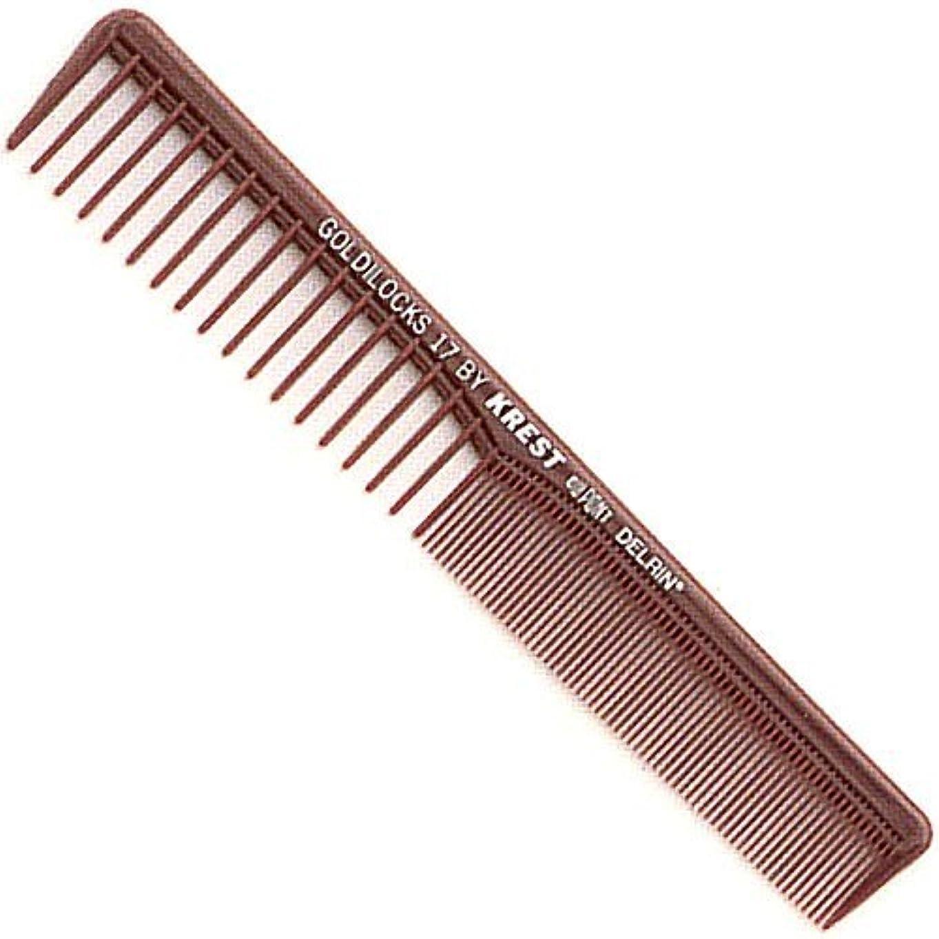 モロニック織る衰えるKrest Combs Goldilocks Space Tooth Fine Tooth Styler Comb 7