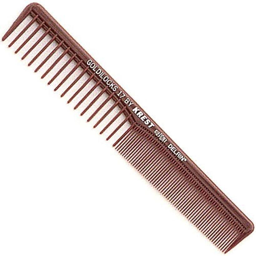 図ベッツィトロットウッド東ティモールKrest Combs Goldilocks Space Tooth Fine Tooth Styler Comb 7