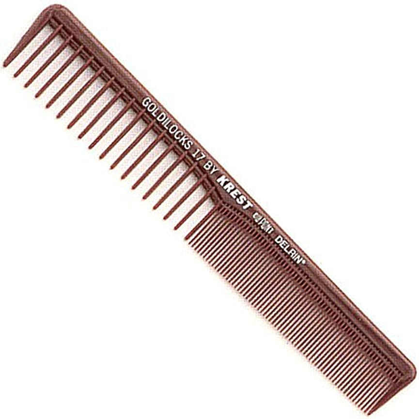 ファイナンスルアースペインKrest Combs Goldilocks Space Tooth Fine Tooth Styler Comb 7