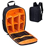 カメラバッグ 一眼レフカメラリュック スリングバッグ 多機能 防水 旅行 一眼レ backpack bag カップルバッグ リュックサック おしゃれ アウトドア撮影に適用 男女兼用 (オレンジ Z)