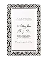 Gartner Studios 81376 Black Damask Invite Kit, 50 Ct. by Gartner