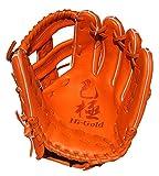 HI-GOLD(ハイゴールド) 軟式グラブ 己極シリーズ 三塁手・オールポジション用 LH 右投げ OKG-6715 オレンジ D-4