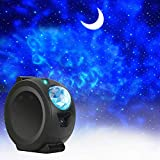 Star Projector, 3-in-1 LED Night Light Projector with Moon Star Nebula Cloud Christmas Projector Light with Touch&Voice Control, Sky Projection Lamp 6 Lighting Effects for Children and Adults Bedroom