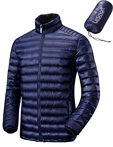 (レスマート)Lesmart メンズ ダウンジャケット 軽量 アウトドア 登山 防寒 防風 ウルトラライト コート 大きいサイズ XXL 紺青