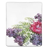 マウスパッド バラの花束Lilacsブーケ 滑り止め 防水 PC ラップトップ 水洗い レーザー 光学式 18*22cm
