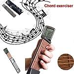 lfoesd デジタル ギター弦トレーナー ギター練習ツール コードトレーナー 初心者 便利なミニ6フレットポータブル 実行ツール 回転可能スクリーン