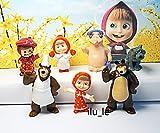 【RusToyShop]8個マーシャと熊のおもちゃキンダーサプライズ卵パーティーFavorToyはイースターミニフィギュアアクションテレビを満たされたから、 8 piece Masha and the Bear toys cake cupcake toppers
