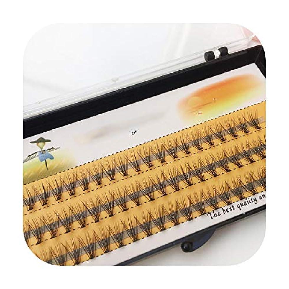 薬理学ゴールド部門60ピースプロフェッショナルメイクアップ個別クラスターアイラッシュグラフト偽まつげ,C,15mm