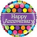 Happy Anniversary Mighty Polka Dots 21 Mylar Foil Balloon 並行輸入品