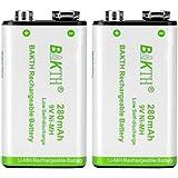 BAKTH 6P形 充電池 ニッケル水素電池 9V 280mAh Ni-MH 1本パック NH925P02