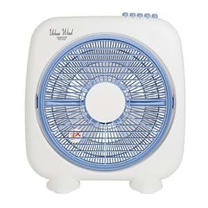 山善(YAMAZEN) 25cmボックス扇風機(押しボタンスイッチ) ホワイトブルー YBS-B255(WA)