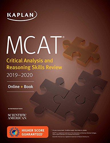 Download MCAT Critical Analysis and Reasoning Skills Review 2019-2020: Online + Book (Kaplan Test Prep) 1506235409