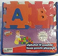 Alphabet & Number Foam Puzzle Play Mat 36 Pieces A-Z & 0-9 by Playright [並行輸入品]