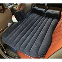 SUVエアベッド、GZD多機能インフレータブルカーマットレス後部座席クッションモーターポンプと2つの枕、ホーム、車、屋外キャンプユニバーサル、85 * 138センチメートル,Black