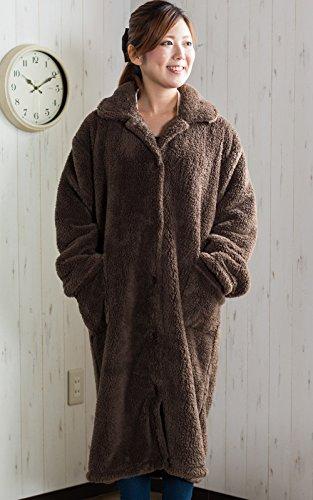 【ふんわり温かい超極柔マイクロファイバー着る毛布 着丈110...