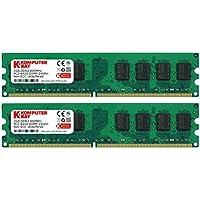 Komputerbay 2GBメモリ2枚組 DUAL デスクトップパソコン用 増設メモリ2枚組 DDR2 PC2-6300 PC2-6400 800MHz 240pin DDR-SDRAM DIMM