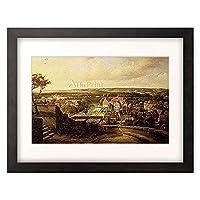 Steuerwaldt, Wilhelm,1815-1871 「Blick auf Quedlinburg vom Schlossberg. 1856.」 額装アート作品