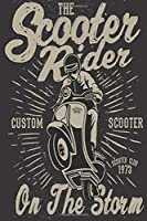 The Scooter Rider CUSTOM SCOOTER SCOOTER CLUCB 1973 On The Storm: Mileage Log Book Mileage Tracker Mileage Counter Logger Lined Notebook Journal Gift For Motorbiker lovers