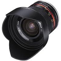 Samyang SY12M-MFT-BK 12mm F2.0 Ultra Wide Angle Fixed Lens for Olympus/Panasonic Micro 4/3 Cameras, Black [並行輸入品]