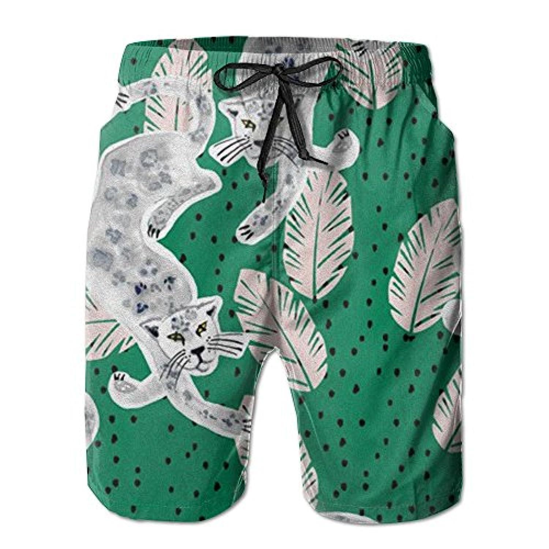 豹 メンズ サーフパンツ 水陸両用 水着 海パン ビーチパンツ 短パン ショーツ ショートパンツ 大きいサイズ ハワイ風 アロハ 大人気 おしゃれ 通気 速乾