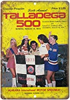 Tallega 500 Alabama Motor Speedway 金属板ブリキ看板注意サイン情報サイン金属安全サイン警告サイン表示パネル