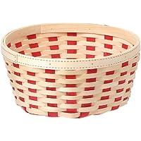 大橋新治商店 木製 バスケット Wood Basket アベーロ寄せ L レッド 73-325
