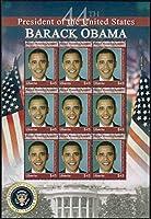 オバマ大統領の切手 リベリア2008年9面シート ホワイトハウス