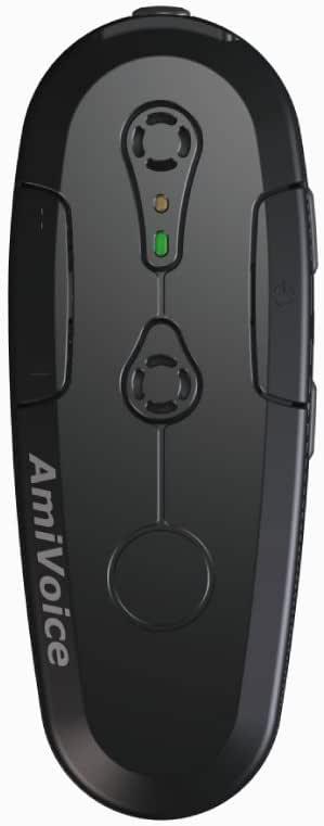 AmiVoice Front WT01(ブラック) 【リモートワーク テレワーク Web会議 オンライン商談 オンライン授業 Webセミナー に最適】 高音質 Bluetooth ウェアラブルマイク ノイズキャンセリング 音声認識・音声対話に特化