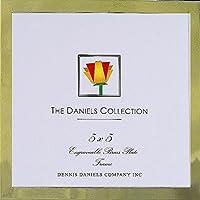 フランスゴールド.50-inchクラシック5x 5フレームby Dennis Daniels ®–Engraveable–5x 5