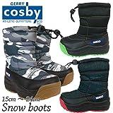 [コスビー] スノーブーツ 男子 女子 スパイク付き 子供用 ダウンブーツ キッズ ジュニア ボーイズ ガールズ fo-awboyboot