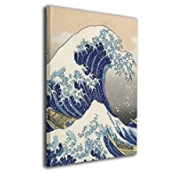 Great Wave Off Kanagawa 装飾画 絵画 壁掛け アートパネル インテリア ポスター 横 玄関 木製額縁なし 部屋飾り 壁掛け式 現代 モダンアート 高品質 壁の絵 軽くて取り付けやすい 居間 背景 モダン