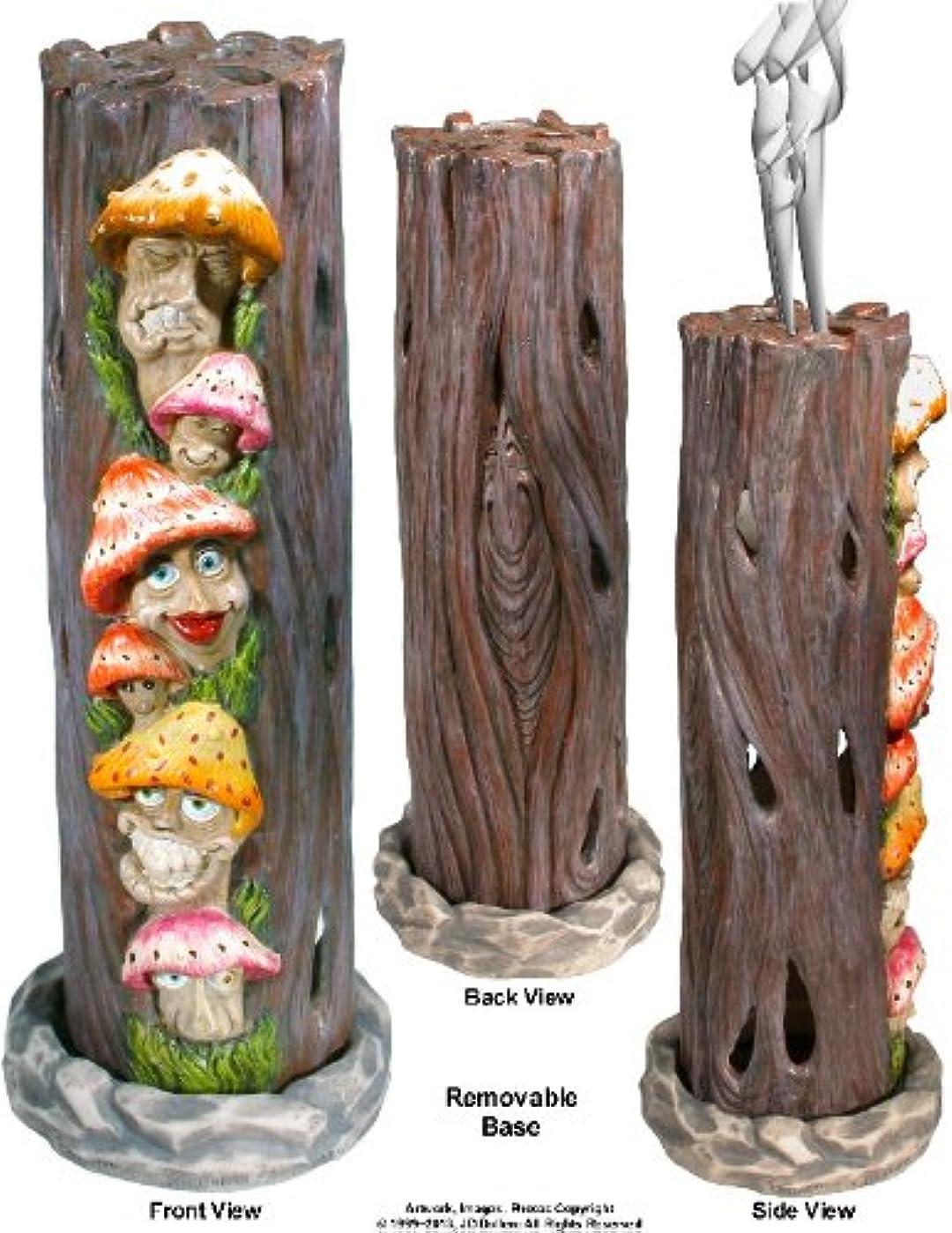 ブロックするではごきげんよう精巧なMushrooms Family inアリスWonderland SmokingタワーIncense burner-ashcatcher by Nose Dessertsブランド
