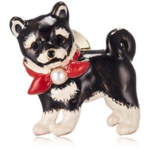 [ヴァンドーム ブティック] VENDOME BOUTIQUE 黒柴 子犬 ブローチ VBRV5742 XD