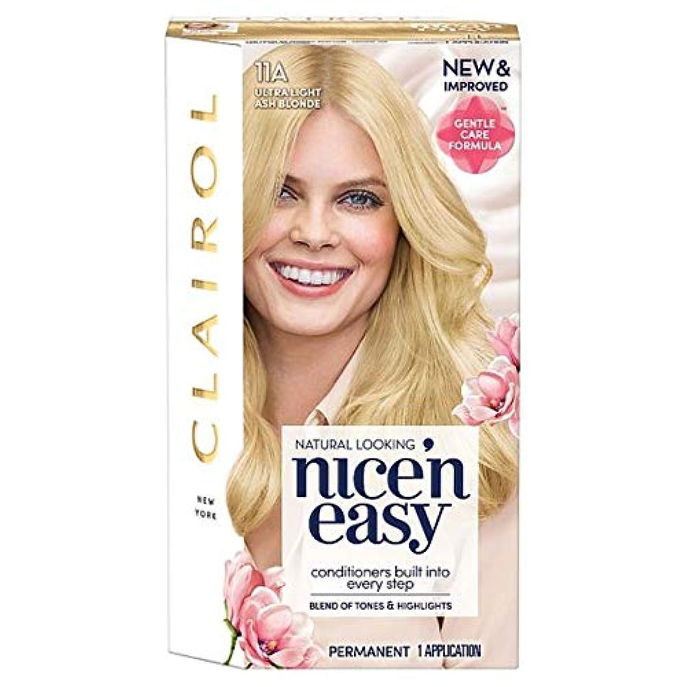 スリチンモイパプアニューギニア手つかずの[Nice'n Easy] クレイロール素敵な「N簡単超軽量アッシュブロンド11Aの染毛剤 - Clairol Nice 'N Easy Ultra Light Ash Blonde 11A Hair Dye [並行輸入品]