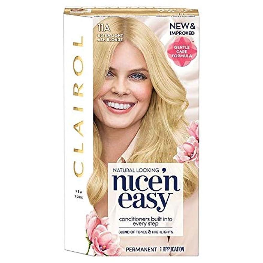 大佐無法者悪意のある[Nice'n Easy] クレイロール素敵な「N簡単超軽量アッシュブロンド11Aの染毛剤 - Clairol Nice 'N Easy Ultra Light Ash Blonde 11A Hair Dye [並行輸入品]