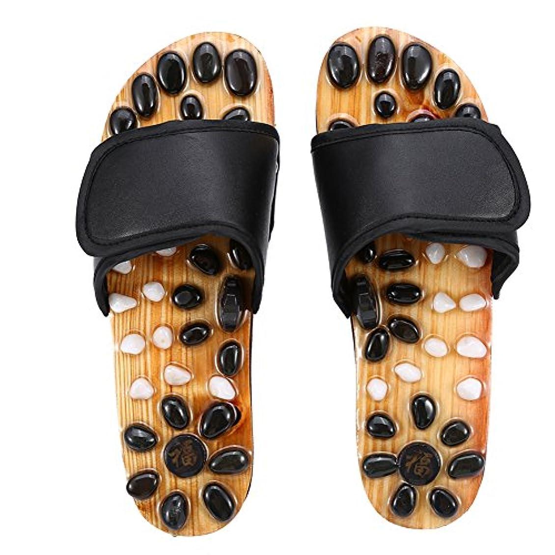 振り子どうやって人生を作る足マッサージスリッパ、リフレクソロジー足底筋膜炎ヘルスケアマッサージシューズ男性と女性のための足の痛みを軽減する (2# 38)