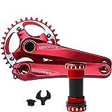 Best シングルスピードバイク - IXF 36T 赤い MTBバイクのクランクセット チェーンホイール BCD 104 コンパチ Review