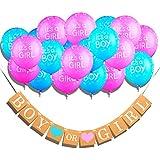 Qyler Gender Reveal装飾Boy or Girlバナーをラテックスバルーンベビーシャワーデコレーション